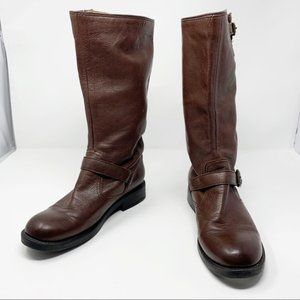 Frye Shoes - Frye Veronica Slouch Brown Leather Boot 7.5